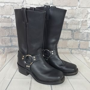 Boulet Harness Motorcycle Boot Black Leather Sz 6